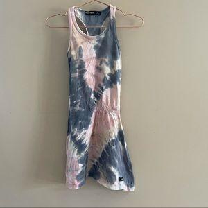 Finger In The Nose Pink/Blue Tie Dye Dress Sz 4-5y